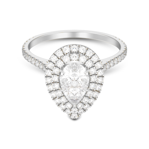 Double-Halo-Pear-Shape-Ring