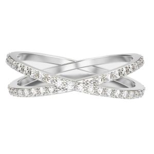 Cross-Band-White-Gold