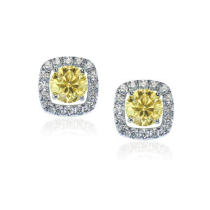 Yellow-Diamond-Stud-Halo-Earrings